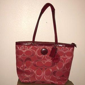 Authentic anagrammed Coach handbag